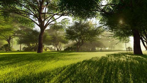Park Landscape Animation