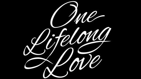 One Lifelong Love. Calligraphic title with Alpha Channel Animation