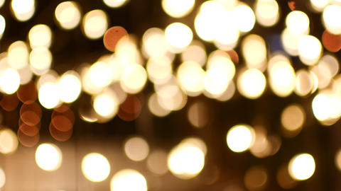 Beautiful festive bokeh from the same lights Live Action