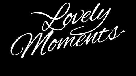Lovely Moments. Calligraphic title with Alpha Channel Animation
