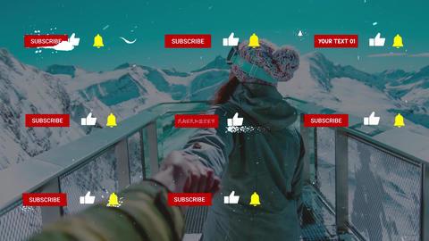 Snow Subscribes 모션 그래픽 템플릿