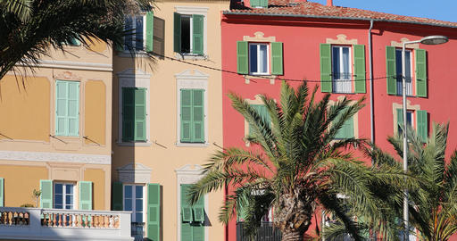 Colorful Houses In Menton On The French Riviera GIF