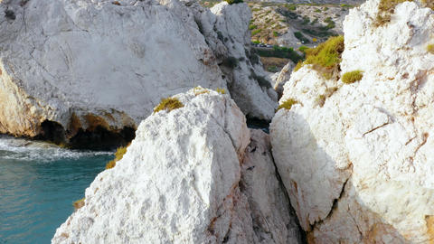 Aphrodite's rock, the legendary birth place of the goddess Aphrodite Live Action