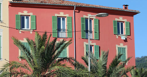 Beautiful Colorful Houses In Menton On The French Riviera GIF