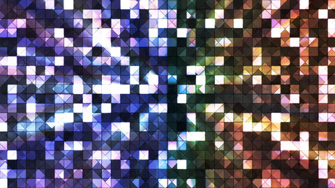 Broadcast Twinkling Hi-Tech Squares, Multi Color, Abstract, Loopable, 4K Animation