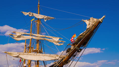 The Masts of Sailing Ship Footage