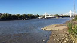 Tide rising River Thames London UK Footage