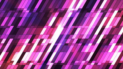 Broadcast Twinkling Slant Hi-Tech Small Bars, Pink, Abstract, Loopable, 4K Animation