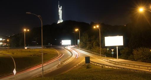 Modern city traffic at night timelapse Footage