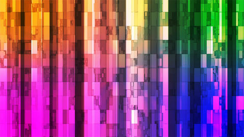 Broadcast Twinkling Vertical Hi-Tech Bars, Multi Color, Abstract, Loopable, 4K Animation