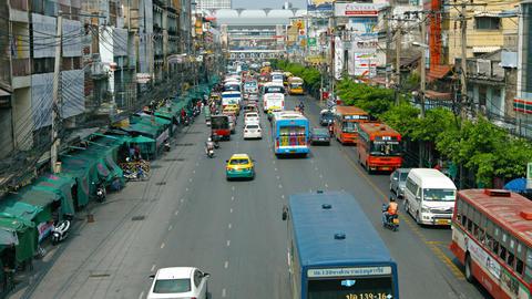 BANGKOK. THAILAND - CIRCA FEB 2015: Traffic on ordinary city streets Footage