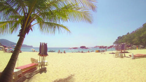Bright. Sunny Day at an Inviting Tropical Beach Resort in Phuket. Thailand Footage