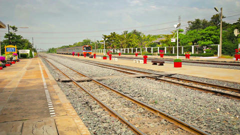 BANG PA-IN. THAILAND - CIRCA NOV 2013: Sleek. modern diesel passenger train crui Live Action