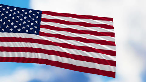 Flag Of The United States Of America Animation