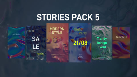 Stories Pack 5: Liquid Plantillas de Premiere Pro