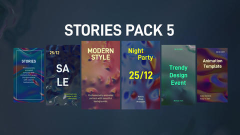 Stories Pack 5: Liquid Plantillas de Motion Graphics