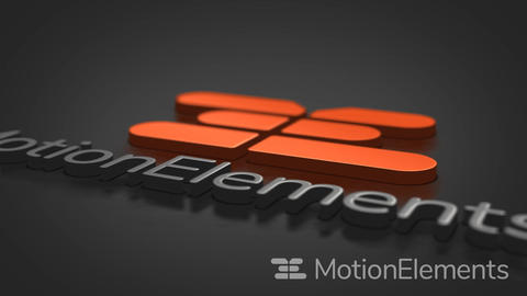 Simple 3d logo After Effects Template