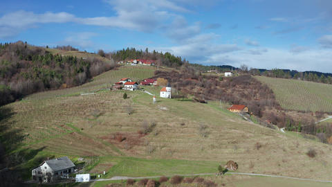 Pohorje wine road, tourist attraction near Slovenska Bistrica with scenic Live Action