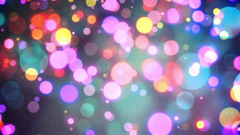 Colorful Out Of Focus Lights Raining Down Seamlessly Looping Video Background Animation