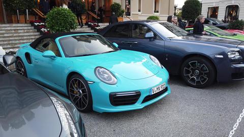 911 Turbo S Cabriolet Miami Blue GIF