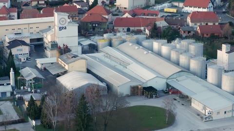 Gea Oil Mill, Factory, Industrial area in small town in Europe, factory in urban Live Action