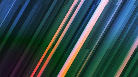 Broadcast Twinkling Slant Hi-Tech Bars, Multi Color, Abstract, Loopable, 4K Animation