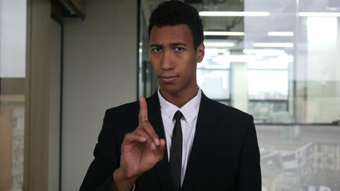 No, Not allowing Gesture by Waving Finger by Businessman Footage