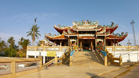 Tha Rua Shrine. one of the most prominent Taoist shrines on Phuket Island. with Footage