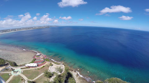 GUAM TWO LOVERS POINT & Mariana Sea-2 Footage