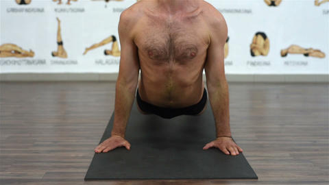 man showing yoga pose Footage