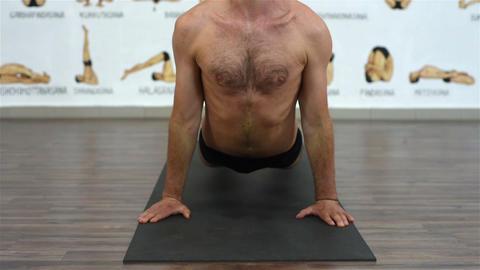 man showing yoga pose Footage