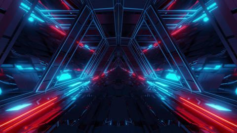 futuristic sci-fi space war ship hangar tunnel corridor with reflective glass Animation