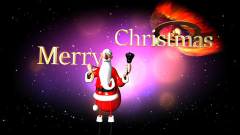 341 3D animated Christmas template with words Merry Christmas Animation