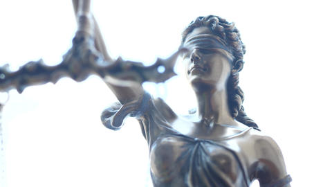 Lady Justice Symbol on White Background Live Action