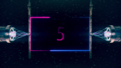 Sky Fi stylized countdown animation. Blue and purple spectrum CG動画