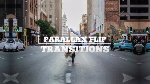Parallax Flip Transitions After Effects Template