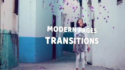 Modern Pages Transitions Premiere Pro Template