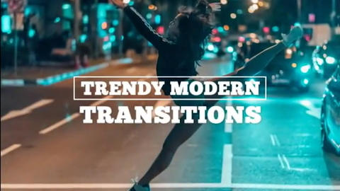 Trendy Modern Transitions Premiere Pro Template