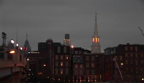 A Philadelphia neighborhood at night Stock Video Footage