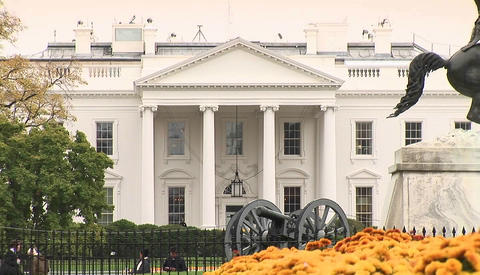 The White House in Washington D.C Stock Video Footage