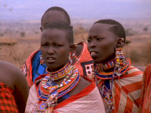 Masai are the best known tribal people of East Africa.... Stock Video Footage