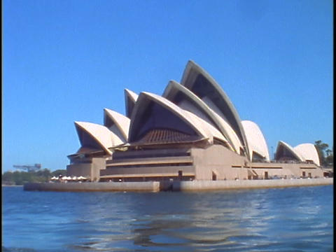 The Sydney Opera House is situated on Bennelong Point in Sydney Harbor Footage