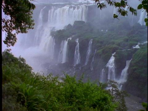 Iguacu Falls in South America Stock Video Footage