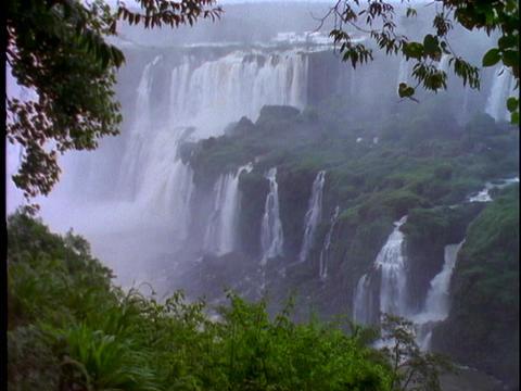 Iguacu Falls in South America Footage