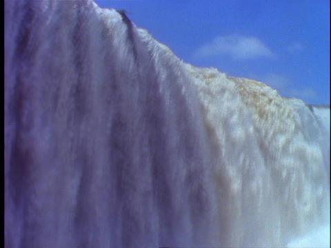 The Iguacu Falls splash into a mist Stock Video Footage