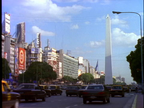 High rises line the streets of Buenos Aires, Argentina Stock Video Footage