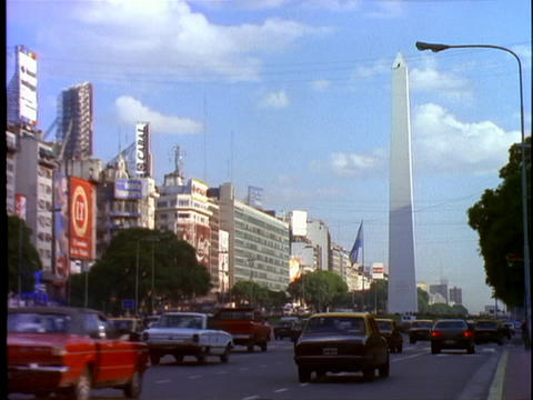 High rises line the streets of Buenos Aires, Argentina Footage