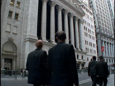 Beautiful architecture adorns the outside of the New York... Stock Video Footage