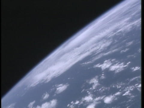 A view of the earth from space Stock Video Footage