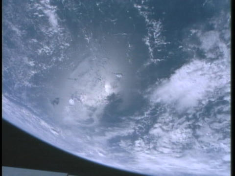 The Earth spins on its axis Stock Video Footage